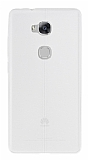 Eiroo Seams Huawei GR5 Deri Desenli Ultra İnce Şeffaf Silikon Kılıf