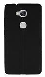 Eiroo Seams Huawei GR5 Deri Desenli Ultra İnce Siyah Silikon Kılıf