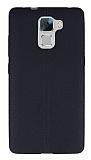 Huawei Honor 7 Deri Desenli Ultra İnce Siyah Silikon Kılıf
