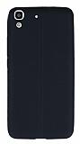 Huawei Y6 Deri Desenli Ultra İnce Siyah Silikon Kılıf