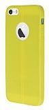 Eiroo Seams iPhone 5 / 5S Deri Desenli Ultra �nce Sar� Silikon K�l�f