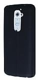 Eiroo Seams LG G2 Deri Desenli Ultra �nce Siyah Silikon K�l�f
