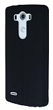 Eiroo Seams LG G3 Deri Desenli Ultra �nce Siyah Silikon K�l�f