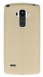 LG G4 Stylus Deri Desenli Ultra İnce Somon Silikon Kılıf