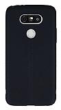LG G5 Deri Desenli Ultra İnce Siyah Silikon Kılıf