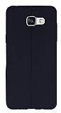 Samsung Galaxy A5 2016 Deri Desenli Ultra İnce Siyah Silikon Kılıf
