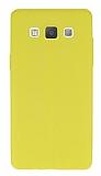 Samsung Galaxy A5 Deri Desenli Ultra İnce Sarı Silikon Kılıf
