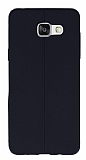 Samsung Galaxy A7 2016 Deri Desenli Ultra İnce Siyah Silikon Kılıf