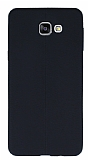 Eiroo Seams Samsung Galaxy A9 Deri Desenli Ultra İnce Siyah Silikon Kılıf