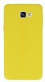Samsung Galaxy A9 Deri Desenli Ultra İnce Sarı Silikon Kılıf
