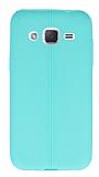 Samsung Galaxy J2 Deri Desenli Ultra İnce Yeşil Silikon Kılıf