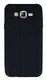 Samsung Galaxy J7 / Galaxy J7 Core Deri Desenli Ultra İnce Siyah Silikon Kılıf