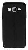 Samsung Galaxy On5 Deri Desenli Ultra İnce Siyah Silikon Kılıf