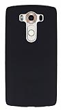 Eiroo Seams LG V10 Deri Desenli Ultra İnce Siyah Silikon Kılıf