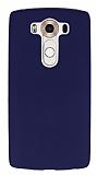 LG V10 Deri Desenli Ultra İnce Lacivert Silikon Kılıf