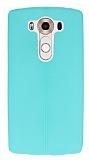 LG V10 Deri Desenli Ultra İnce Su Yeşili Silikon Kılıf