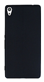 Sony Xperia XA Ultra Deri Desenli Süper İnce Siyah Silikon Kılıf