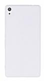 Eiroo Seams Sony Xperia XA Ultra Deri Desenli Süper İnce Şeffaf Beyaz Silikon Kılıf
