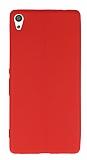 Sony Xperia XA Ultra Deri Desenli Süper İnce Kırmızı Silikon Kılıf