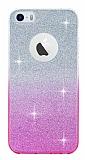 Eiroo Sheenful iPhone SE / 5 / 5S Pembe Silikon K�l�f