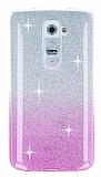 LG G2 Pembe Simli Silikon Kılıf