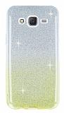 Samsung Galaxy J5 Sarı Simli Silikon Kılıf