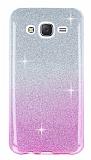 Samsung Galaxy J7 / Galaxy J7 Core Pembe Simli Silikon Kılıf