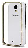 Eiroo Shine Samsung i9500 Galaxy S4 Ta�l� Metal Bumper �er�eve Gold K�l�f