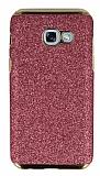 Eiroo Shiny Samsung Galaxy A3 2017 Simli Pembe Silikon Kılıf