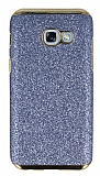 Eiroo Shiny Samsung Galaxy A3 2017 Simli Mavi Silikon Kılıf