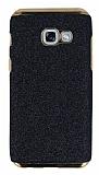 Eiroo Shiny Samsung Galaxy A3 2017 Simli Siyah Silikon Kılıf