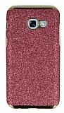 Eiroo Shiny Samsung Galaxy A5 2017 Simli Pembe Silikon Kılıf