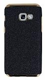 Eiroo Shiny Samsung Galaxy A5 2017 Simli Siyah Silikon Kılıf