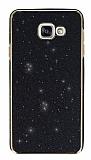 Eiroo Shiny Samsung Galaxy A7 2016 Simli Siyah Silikon Kılıf