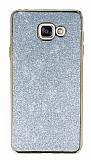 Eiroo Shiny Samsung Galaxy A7 2016 Simli Silver Silikon Kılıf