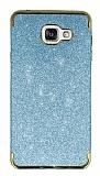 Eiroo Shiny Samsung Galaxy A7 2016 Simli Mavi Silikon Kılıf