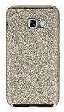Eiroo Shiny Samsung Galaxy A7 2017 Simli Gold Silikon Kılıf