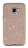 Eiroo Shiny Samsung Galaxy C7 SM-C7000 Prime Simli Rose Gold Silikon Kılıf