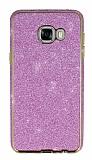Eiroo Shiny Samsung Galaxy C7 SM-C7000 Prime Simli Pembe Silikon Kılıf