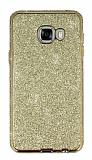 Eiroo Shiny Samsung Galaxy C7 SM-C7000 Prime Simli Gold Silikon Kılıf