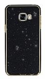 Eiroo Shiny Samsung Galaxy C7 SM-C7000 Prime Simli Siyah Silikon Kılıf