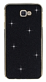 Eiroo Shiny Samsung Galaxy J5 Prime Simli Siyah Silikon Kılıf
