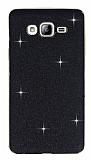 Eiroo Shiny Samsung Galaxy On7 Simli Siyah Silikon Kılıf