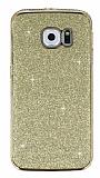 Eiroo Shiny Samsung Galaxy S6 Edge Simli Gold Silikon Kılıf