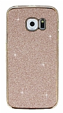 Eiroo Shiny Samsung Galaxy S6 Edge Simli Rose Gold Silikon Kılıf