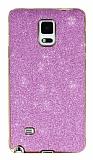 Eiroo Shiny Samsung N9100 Galaxy Note 4 Simli Pembe Silikon Kılıf