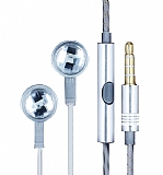 Eiroo Shiny Series Mikrofonlu Kulaki�i Silver Kulakl�k
