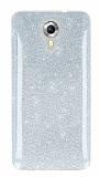 Eiroo Silvery General Mobile Android One Simli Silver Silikon Kılıf