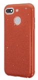 Eiroo Silvery General Mobile GM 8 GO Simli Kırmızı Silikon Kılıf