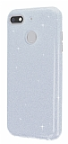 Eiroo Silvery General Mobile GM 8 GO Simli Silver Silikon Kılıf